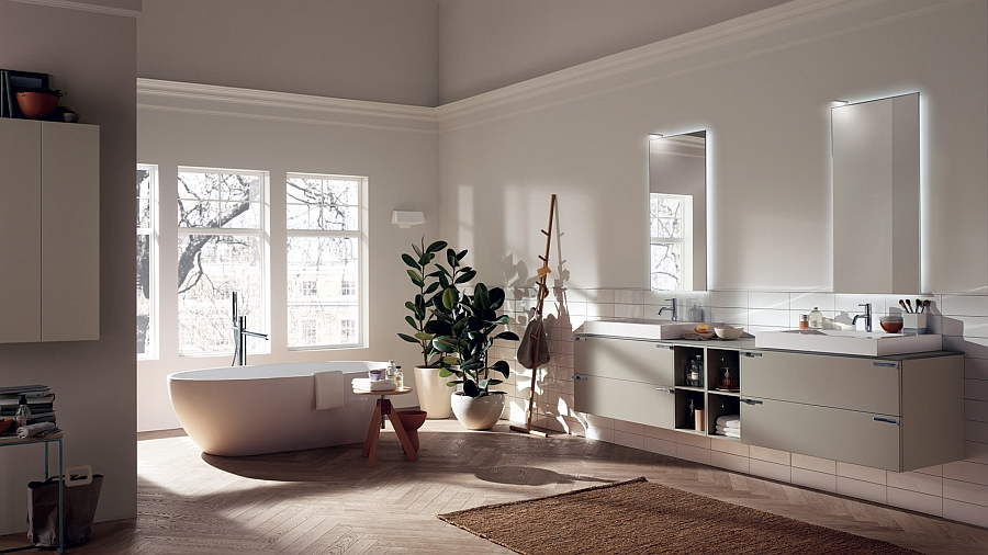 Gorgeous contemporary kitchen Aquo from Scavolini Exquisite Modern Bathroom Brings Home Sophisticated Minimalism