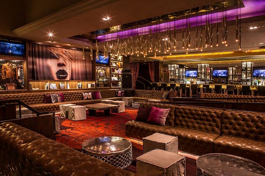 Gorgeous gold and brilliant purples grace the Hard Rock Hotel
