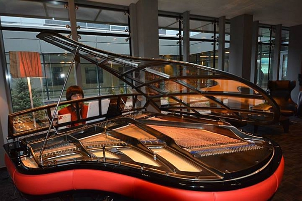 Grand Piano at the VIP Lounge of Riga Airport