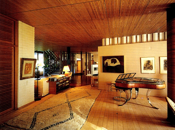 Grand Piano inside iconic Finnish designer Alvar Aalto's private home in Finland