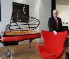 Iconic Egg Chair with PH Grand Piano and owner of the company Flemming Lindeløv