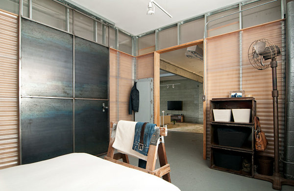 View In Gallery Industrial Bedroom