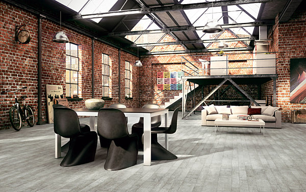 Key traits of industrial interior design for Industrial interior design lighting