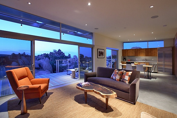 Interior of Rock Reach House by o2 Architecture