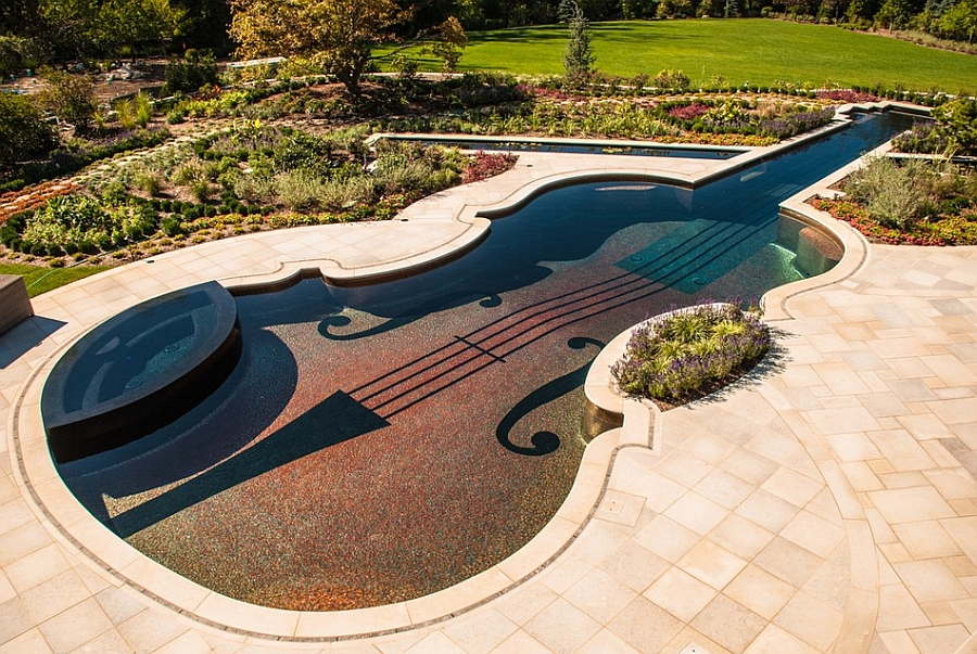 Intricately crafted pool mimics every feature of the Stradivarius violin