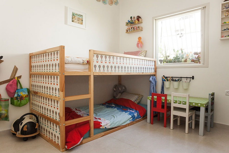 Kids' bedroom with a bunk bed