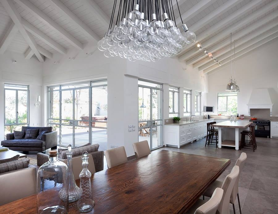 View In Gallery Kitchen And Dining Room Of The Modern Villa Petah Tikva