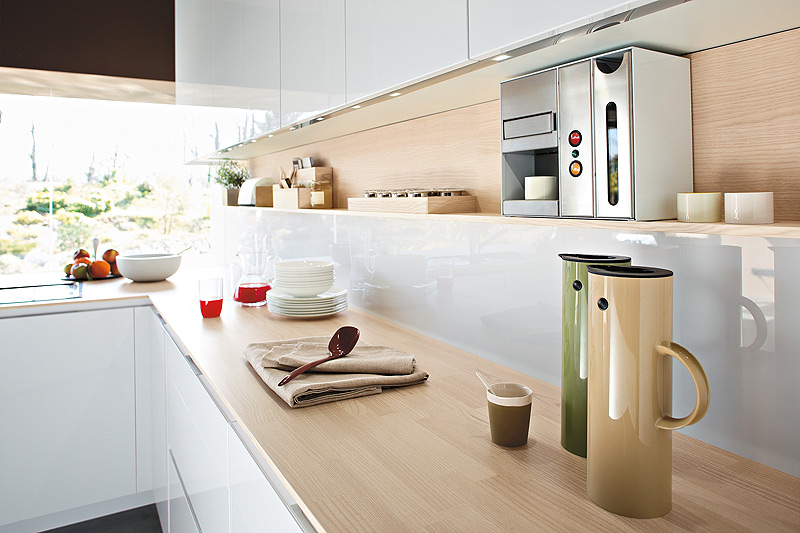 contemporary italian kitchen offers functional storage
