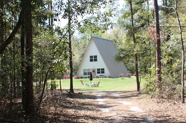 Lakeside A-Frame house paints a inimitable picture