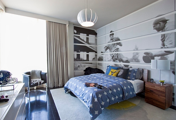 Large baseball themed wall mural liiks simply stunning Wall Murals And Decals For Sports Enthusiasts