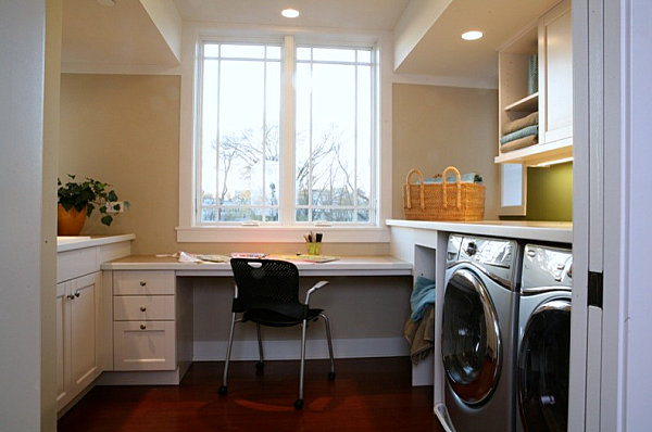 Laundry room and home office