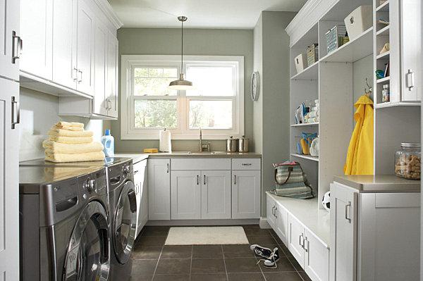 Laundry room meets mudroom