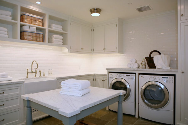 Laundry room with a clean look