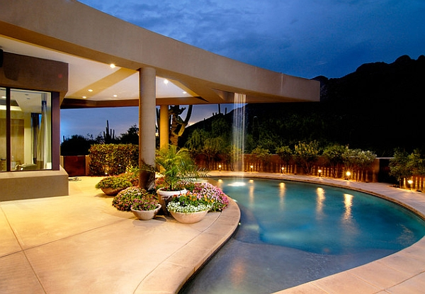 Breathtaking pool waterfall design ideas for Modern contemporary swimming pools