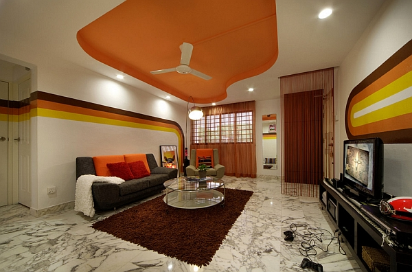 Retro living room ideas and decor inspirations for the for 1 bhk living room interior