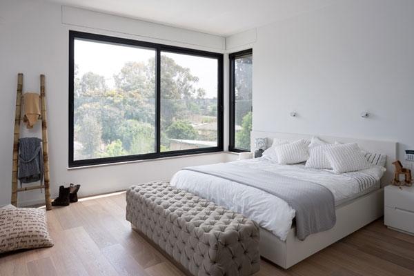 Lovely master bedroom in white