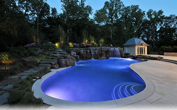 Luxury Swimming Pools With Waterfalls breathtaking pool waterfall design ideas