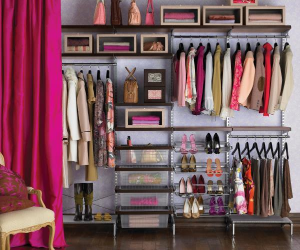 Making the most of wall space in your closet