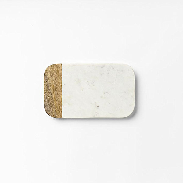 Marble and wood slab