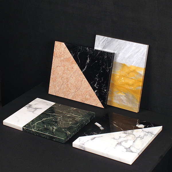 Marble platters with 80s style Marble Decor For A Sleek Interior