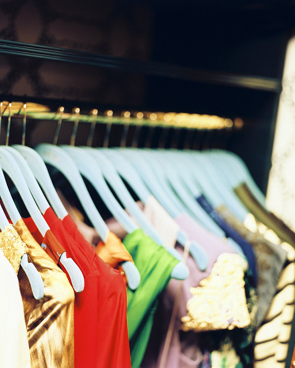 Matching hangers in a chic closet 10 Easy Ways to Create an Organized Closet