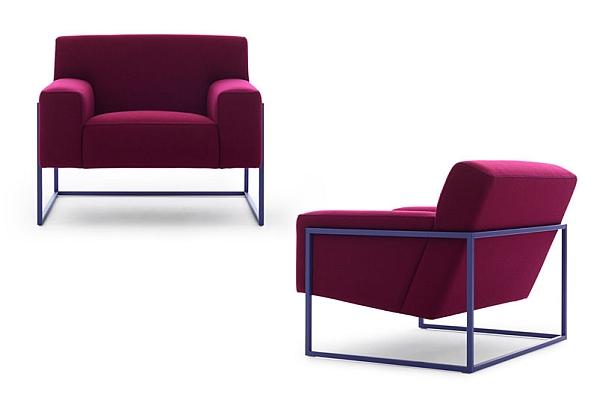 Minimalist frame of the trendy sofa