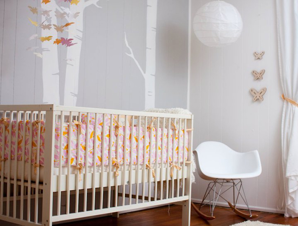 Modern Girls Gray Nursery Tips On Creating A Happy Modern Nursery
