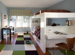 Modern bunk bed idea for kids' room