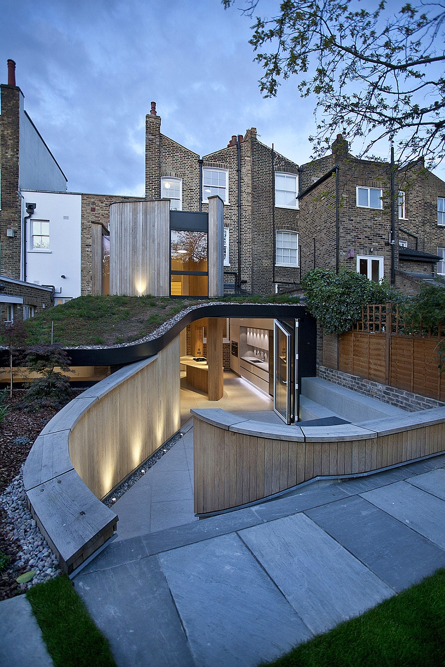 Modern extension to a victorian house in london comes with a quirky twist