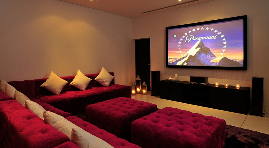 Modern home theater in the phuket villa