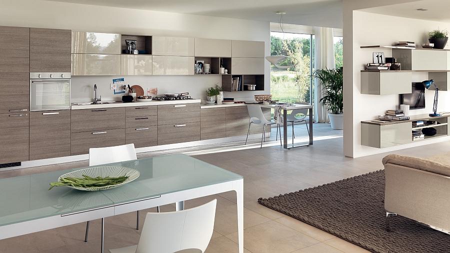 Modern Kitchen Living Room sleek modern kitchen looks like a posh contemporary office!