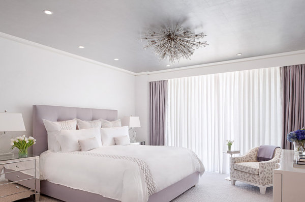 Modern lavender bedroom