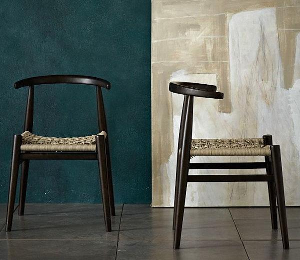 Modern wooden chairs