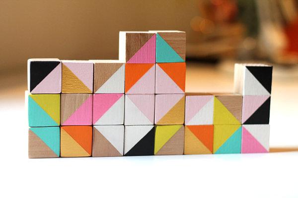 View in gallery Modern wooden cube blocks