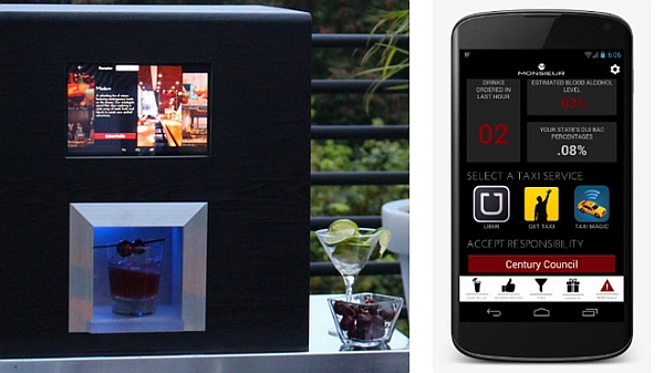 Monsieur Artificial intelligence bartender can be controlled with iPhone