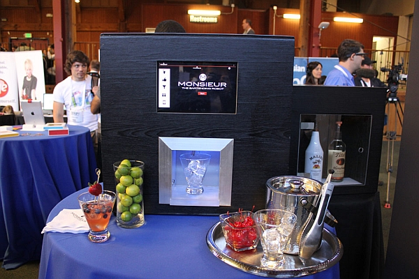 Monsieur Robotic Bartender on display at CES 2014
