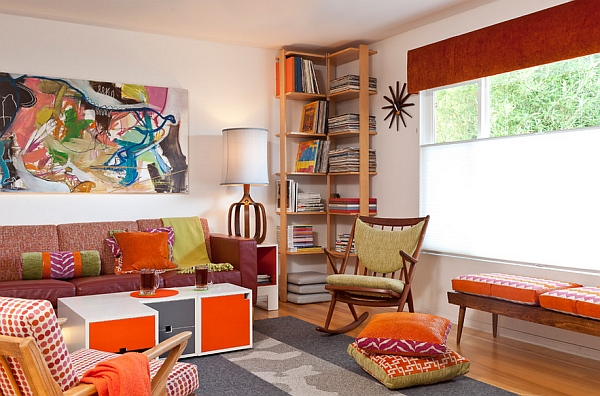 Orange is  a popular color choice for those looking to add a retro appeal