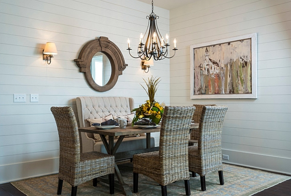 Organic dining room with an American Coastal Style