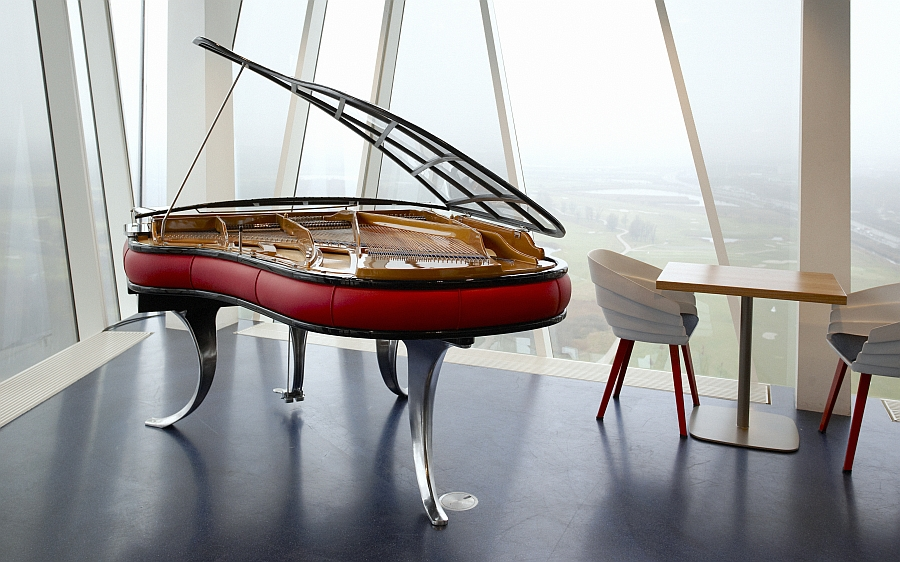 PH Grand Piano from Bella Sky Bar at Bella Sky Hotel in Copenhagen