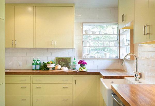 Pale yellow kitchen