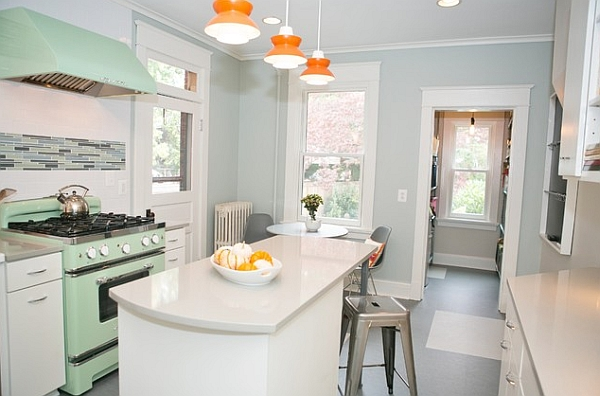 Pale Orange Kitchen retro kitchens that spice up your home
