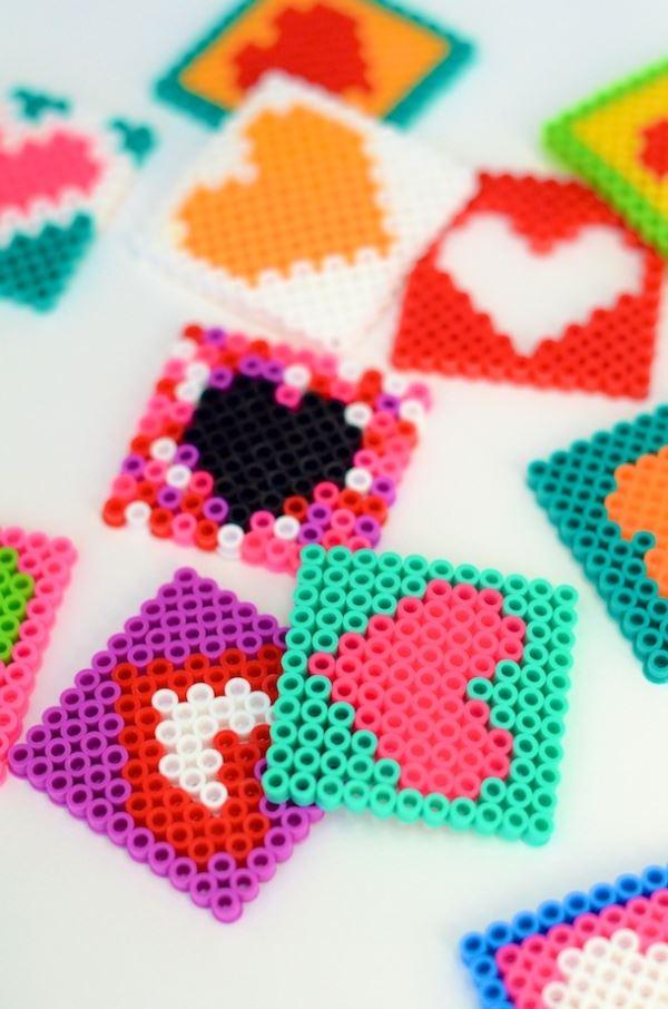 Perler bead valentines