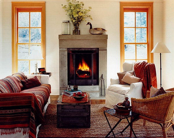 Plush decor and warm textures for the winter cabin style