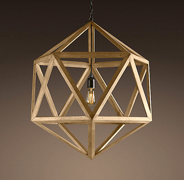 Polyhedron pendant lamp