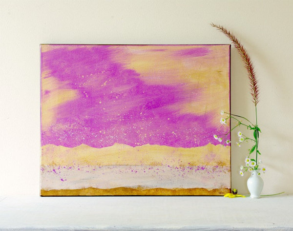 Radiant orchid watercolor painting Wall Decor Ideas For A Cool Dining Room