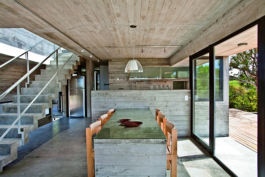 Raw, unfinished look of Buenos Aires home