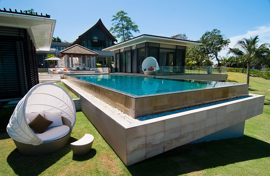 Refreshing poolside patio with sea views Luxurious Villa In Thailand Blends Serene Elegance With Stunning Sea Views