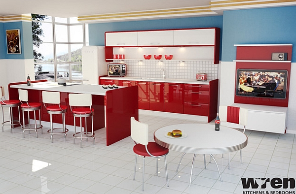 retro modern kitchen retro kitchens that spice up your home 4273