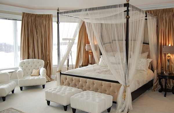 Romantic canopy bed idea
