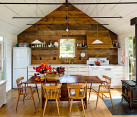 Rustic kitchen and dining space